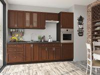 небольшая модульная кухня под цвет орех