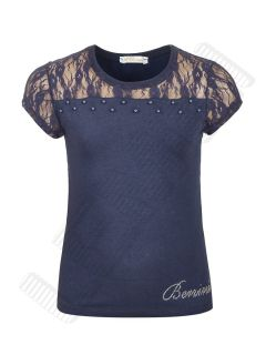 Блузка для девочки темно-синий