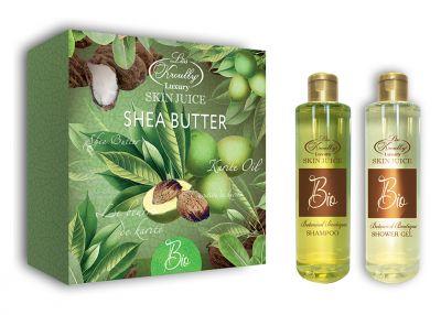Liss Kroully Skin juice Парфюмерно-косметический подарочный набор BIO-1701 Botanical Boutique Шампунь 260 мл + Гель для душа 260 мл