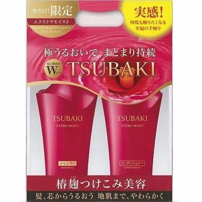 Shiseido Tsubaki Extra Moist Набор для поврежденных волос Увлажняющий Шампунь 500 мл + Кондиционер с маслом камелии 500 мл