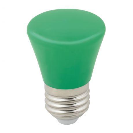 LED-D45-1W-GREEN-E27-FR-С BELL Лампа декоративная светодиодная. Форма Колокольчик. матовая. Цвет зеленый. Картон. ТМ Volpe.