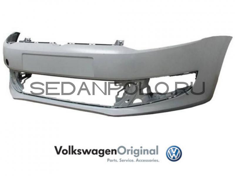 Бампер передний VAG Volkswagen Polo Sedan Дорестайлинг