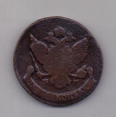 5 копеек  1788 года ММ перечекан