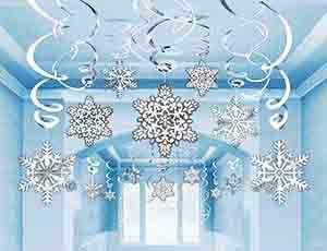 Набор спиралей Снежинки на пружинке (30шт)