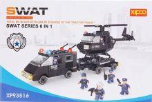 Конструктор детский Лего Полиция 6 в 1 359 деталей