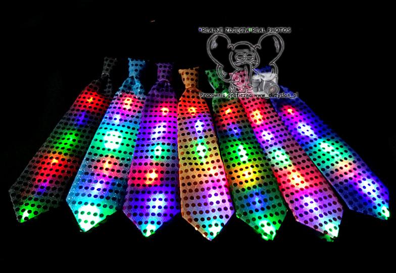 Светящийся карнавальный галстук(Цвет: Белый)