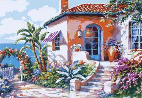 Картина по номерам «Живописный дворик» 40x50 см