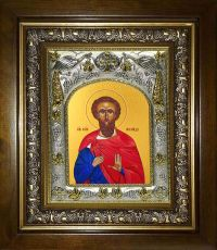 Икона Леонид мученик (14х18)