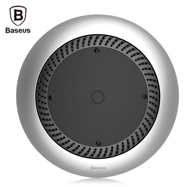 Беспроводная ЗУ со встроенным вентилятором Baseus whirlwind Desktop wireless charger Серебристая (CCALL-XU0S)