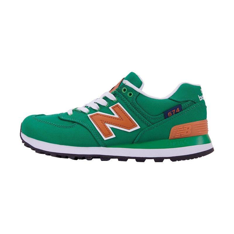 Кроссовки New Balance 574 зеленые
