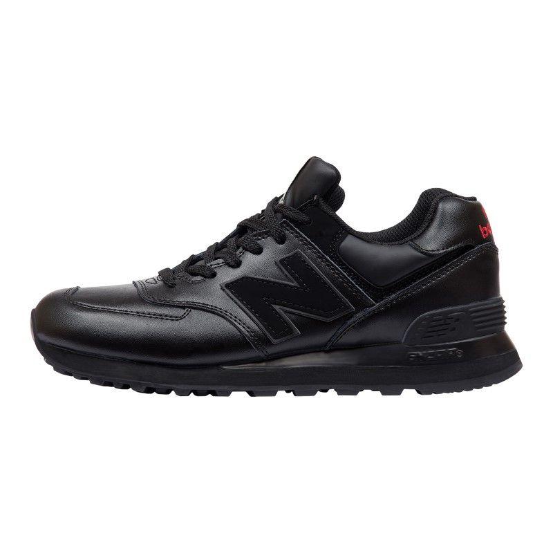Кроссовки New Balance 574 Leather черные