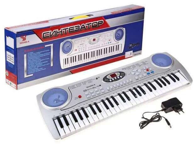 SD5490A Детский синтезатор пианино с микрофоном от сети