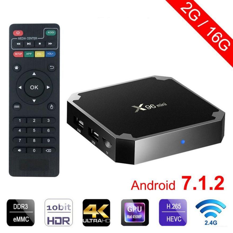 Приставка Смарт TV Box Андроид X96 mini 2/16 Гб