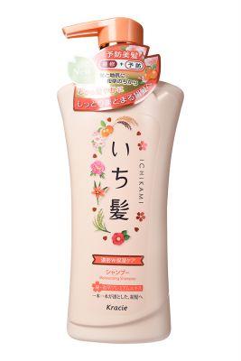 """721518""""Ichikami"""" Шампунь интенсивно увлажняющий для поврежденных волос с маслом абрикоса 150 мл"""