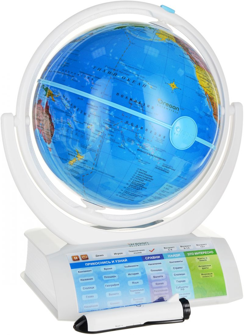 Глобус OREGON SCIENTIFIC SG338R Интерактивный с беспроводной ручкой (дополненная реальность)
