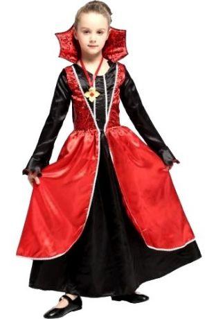 Платье Вампирши с воротом (L, детский)