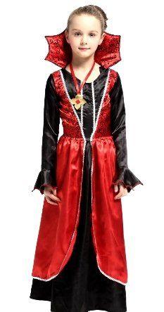 Платье Вампирши с воротом (XL, детский)