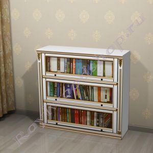 """Книжный шкаф """"Лондон ЛИ белая эмаль"""""""