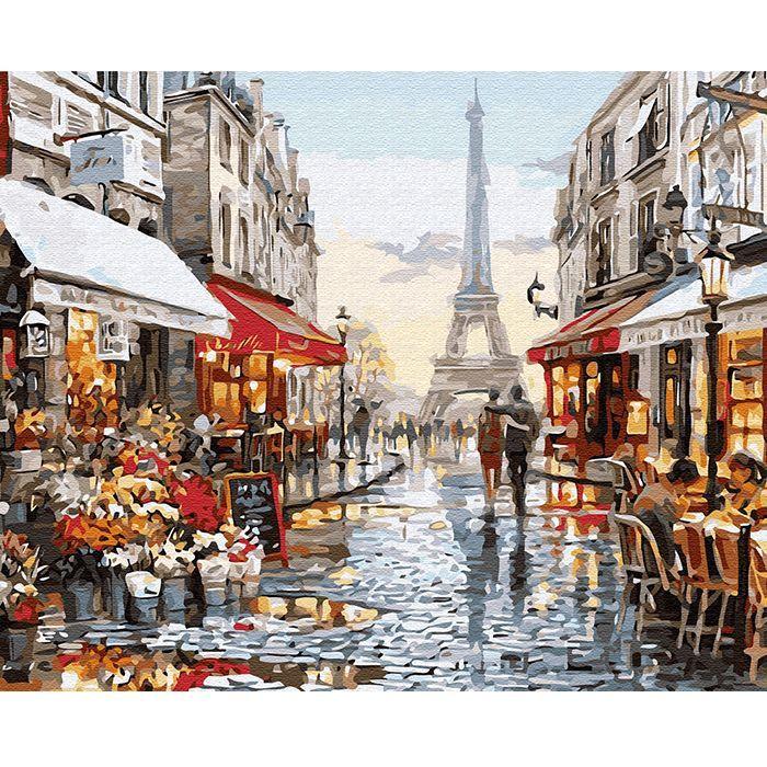 Картина по номерам Окно в Париж 40*50см KH0608