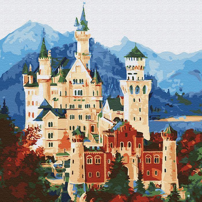 Картина по номерам Средневековый замок 30*30см KH0711