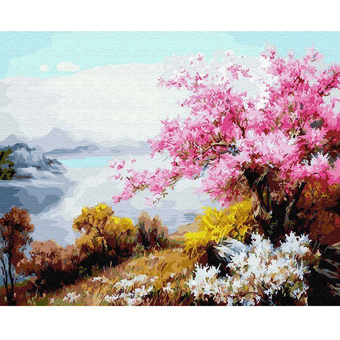 Картина по номерам Цветение сакуры 40*50см KH0640
