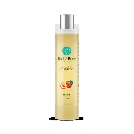 Шампунь для волос / Персик / Для блеска