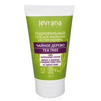 Гидрофильный гель для умывания кожи лица Чайное Дерево Levrana (Леврана) 150 мл