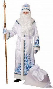 Костюм Дед Мороз (сатин белый)