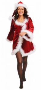 Костюм Мисс Санта с капюшоном