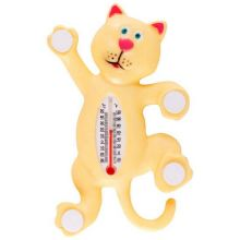 Термометр оконный на липучках Котик, 26х15 см