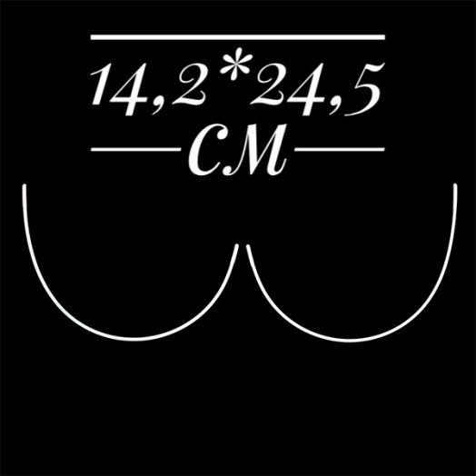 Косточки корсетные полукруг металл  Размер 14,2*24,5 см