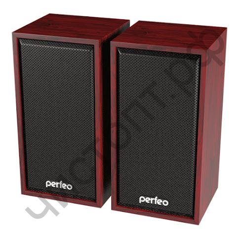 "Актив.колонки 2.0 Perfeo ""CABINET"" 2.0,  2х3 Вт (RMS), махагон, USB (PF-84-MHG)"