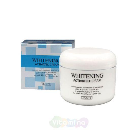 Jigott Отбеливающий крем для лица Whitening Activated Cream, 100 г