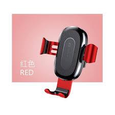 Беспроводное ЗУ автодержатель Baseus Wireless Charger Gravity Car Mount Красный (WXYL-09)