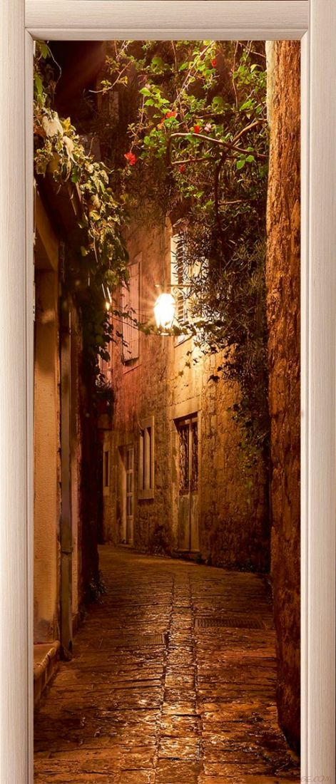 Наклейка на дверь - Во времена Дон Кихота