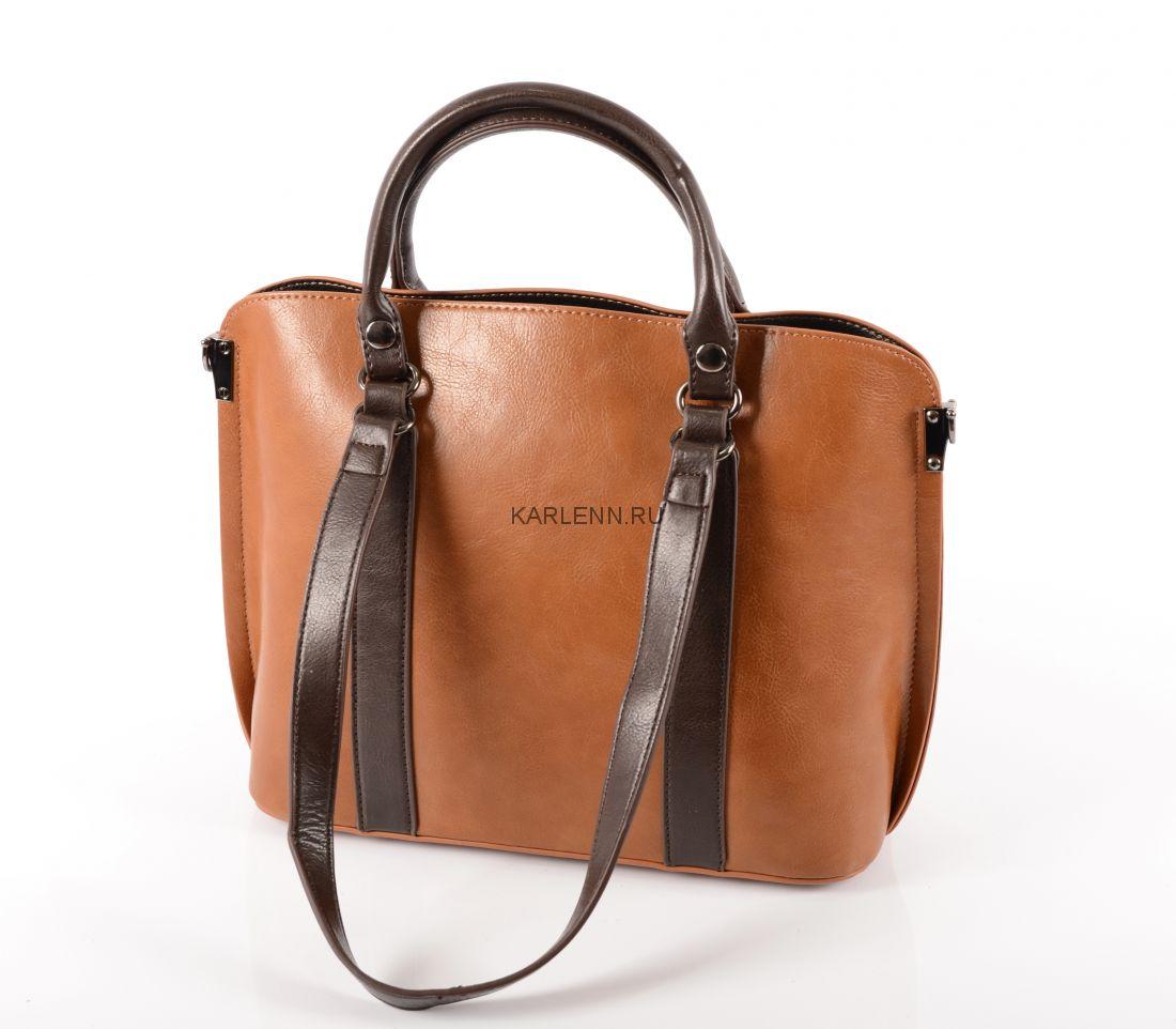 Классическая женская сумка KARLENN (пыльно-жёлтая)