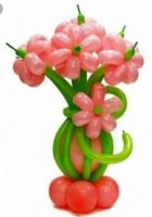 Фигура из шаров «Ваза с цветами»