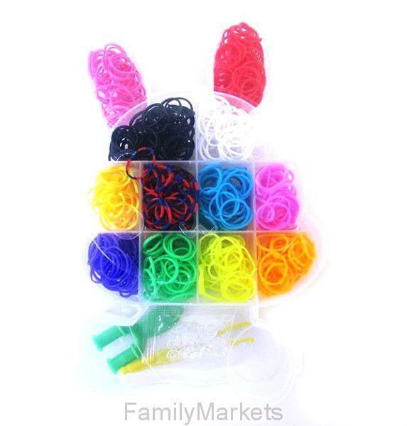 Набор резиночек для плетения Rainbow Loom Зайчик