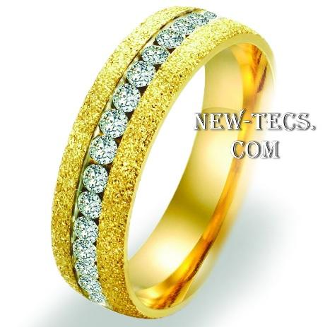 Обручальное кольцо с алмазной крошкой (6 мм)