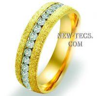 Обручальное кольцо с алмазной крошкой