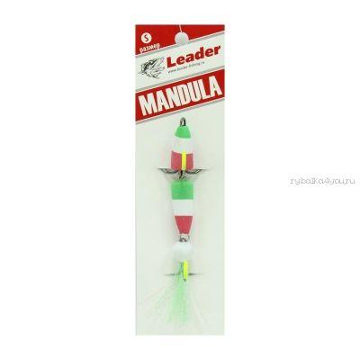 Мандула классическая Leader Mandula/ размер M/ 90мм/  Цвет 071/ зеленый-белый-красный