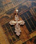 Позолоченный православный крестик (арт. 788020)