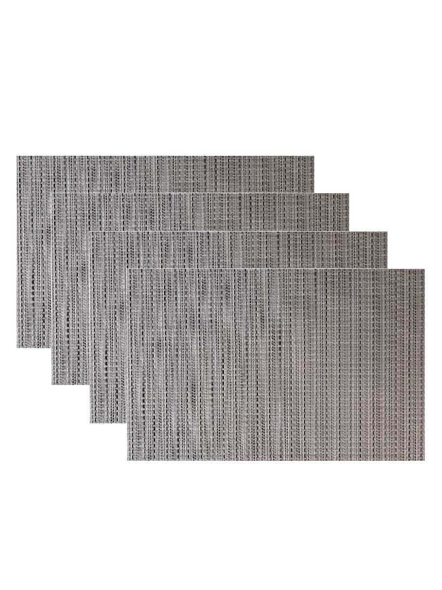 Набор из 4-х прямоугольных кухонных термосалфеток Dutamel плейсмат салфетка сервировочная - под ротанг светло-коричневая DTM-027 45*30 см