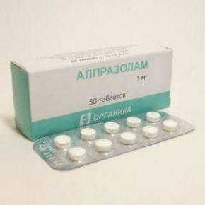 Алпразолам, купить, 1 мг, 50 таблеток, без рецептов