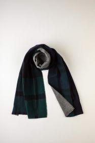 теплый широкий двусторонний  шарф (двойное полотно) тартан  Блэк Уотч Черная Стража Британской Империи BLACK WATCH EXPLODED и клетка Glencheck ,плотность