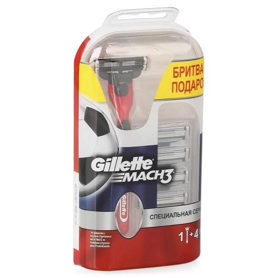 Gillette Mach3 сменные кассеты (5 шт) + станок, промо-набор