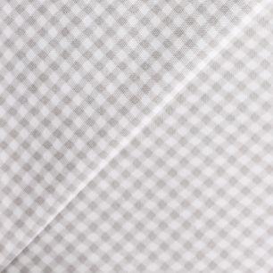 Лоскут трикотажной ткани Серая клетка 50х30