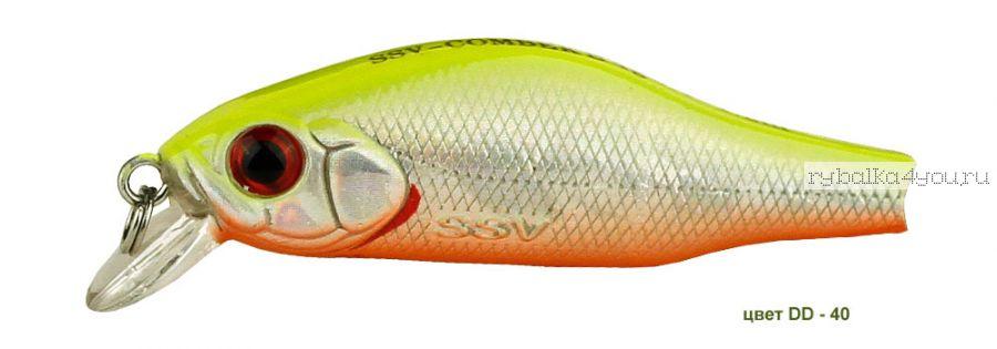 Воблер Silver Stream Combek S 35S 35 мм / 2 гр / Заглубление: 0,4 - 0,6 м / цвет: DD-40