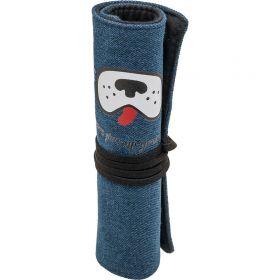 Пенал ACTION, в форме рулона, размер 18,5х4х4 см, на завязке, синий, унисекс