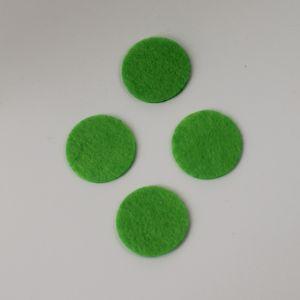 Фетровые пяточки 30мм, с прорезями, цвет № 50 светло-зеленый (1уп = 243шт)